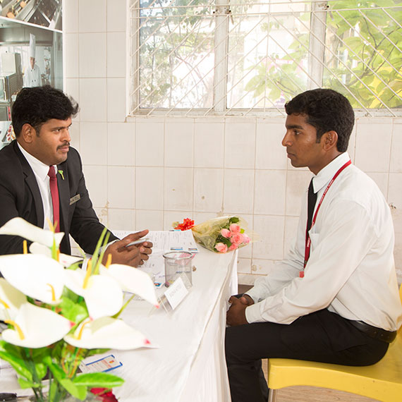 Campus Interview 1 of Hotel Management Placement